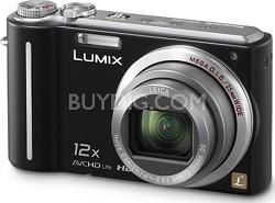DMC-ZS3K LUMIX 10.1MP Compact Digital Camera w/ 12x Super Zoom-Black-REFURBISHED