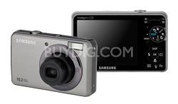 """SL202 10MP/ 3X OPT/ 2.7"""" LCD Digital Camera (Silver)"""