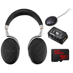 Zik 3 Wireless Noise Cancelling Headphones Ultimate Bundle (Black Overstitched)