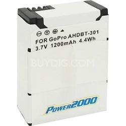 GP-H3 1200MAH Battery Pack for the Go Pro Hero