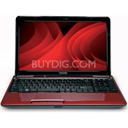 "Satellite 15.6"" L655D-S5159RD Notebook PC - Red AMD N660"