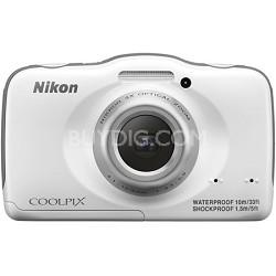 COOLPIX S33 13.2MP Waterproof Shockproof Dustproof Digital Camera - White