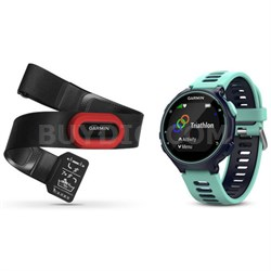 Forerunner 735XT GPS Running Watch Run-Bundle - Midnight Blue (010-01614-13)