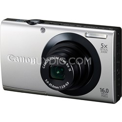 PowerShot A3400 IS 16MP Silver Digital Camera 5x Optical Zoom 3 inch Touch Panel