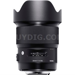 20mm F1.4 Art DG HSM Wide Angle Lens for Sigma Full-frame DSLR Cameras - 412-956