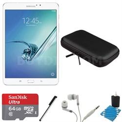Galaxy Tab S2 8.0-inch Wi-Fi Tablet (White/32GB) 64GB MicroSD Card Bundle