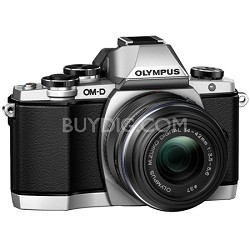 OM-D E-M10 Mirrorless Micro Four Thirds Digital Camera w 14-42mm 2RK Lens Silver