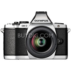 OM-D E-M5 12-50mm Silver Digital SLR Camera - Silver
