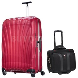 "28"" Black Label Cosmolite Spinner (Bright Pink) + Wenger Laptop Boarding Bag"