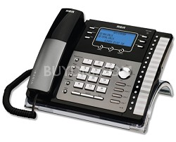 4-Line Expandable System Phone with Intercom