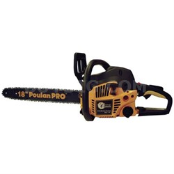 Pro PP4218AVX 18-inch 42cc 2-Cycle Assembled Chainsaw with Case
