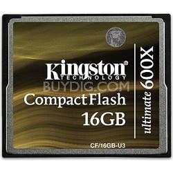 16GB Ultimate Compact Flash 600x Memory Card