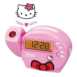Projection Alarm Clock Radio - Pink