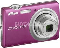 COOLPIX S220 Digital Camera (Magenta)