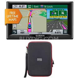 "nuvi 68LM 6"" Essential Series 2015 GPS System w/ Lifetime Maps Case Bundle"