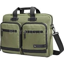 Madagascar Slim Laptop Briefcase - Olive/Black