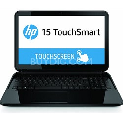 "TouchSmart 15.6"" HD 15-d020nr Notebook PC- AMD Quad-Core A4-5000 Proc - OPEN BOX"