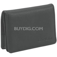Black Leather Business Card Style Case for all EXILIM S Series Cameras
