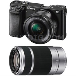 Alpha a6000 Mirrorless Camera w/ 16-50mm & 55-210mm Power Zoom Lenses