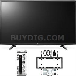 43LH5700 43-Inch Full HD Smart LED TV Slim Flat Wall Mount Bundle