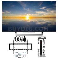 "XBR-49X800D - 49"" Class 4K HDR Ultra HD TV w/ Slim Flat Wall Mount Bundle"