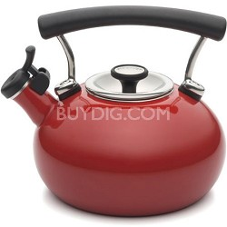 Contempo 2-Qt. Enamel Whistling Teakettle, Red