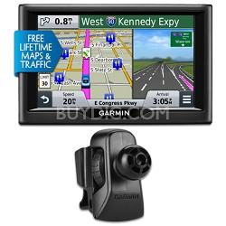 "nuvi 58LMT 5"" Essential Series 2015 GPS System Maps & Traffic Vent Mount Bundle"
