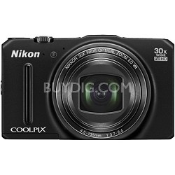 COOLPIX S9700 16MP HD 1080p 30x Opt Zoom Digital Camera - Black
