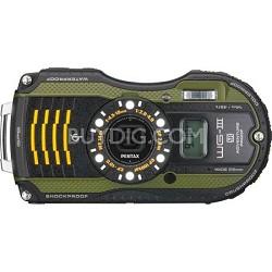 WG-3 16MP Green GPS-Enabled Waterproof Shockproof Crushproof Digital Camera