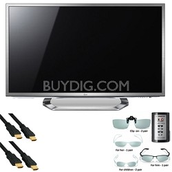"55G2 55"" Cinema 1080P 120Hz 3D LED with Google TV + AGF216 Glasses + HDMI Cables"
