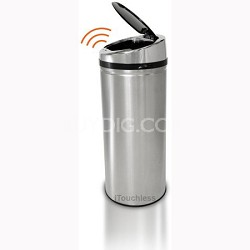 11 Gallon Round Stainless Steel Automatic Sensor Touchless Trash Can (IT13RCB)