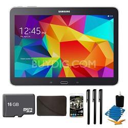 """Galaxy Tab 4 Black 16GB 10.1"""" Tablet, 16GB Card, and Case Bundle"""