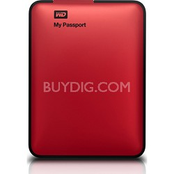 My Passport 500GB USB3.0 Portable Hard Drive - WDBKXH5000ARD-NESN (Red) OPEN BOX