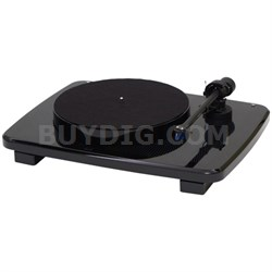 Ikura Split-Plinth Design Belt Driven Turntable - Black