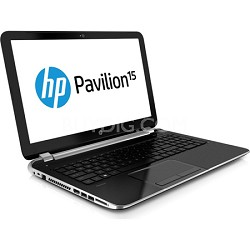 "Pavilion 15.6"" HD LED 15-n010us Notebook PC - AMD Quad-Core A6-5200 Acc. Proc."