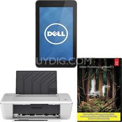Venue 7 16GB Tablet (Android)  + HP DJ1010  Printer + Lighroom5