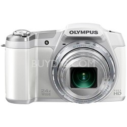 "STYLUS SZ-16 iHS16MP 24x wide 48x Zoom 1080p HD 3 "" Hi-Res LCD-White TOP RATED"