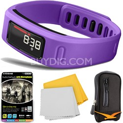 Vivofit Bluetooth Fitness Band Plus Accessory Bundle (Purple)(010-01225-02)