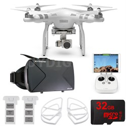 Phantom 3 Advanced Quadcopter Drone w/ HD Camera FPV Virtual Reality Experience