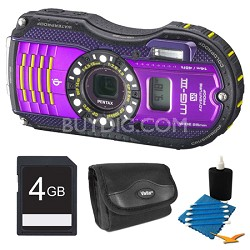 WG-3 Purple Digital Camera 4GB Bundle