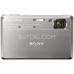 "Cyber-shot DSC-TX7 10.2 MP Digital Camera w/ 3.5"" Touch LCD (Silver)-REFURBISHED"