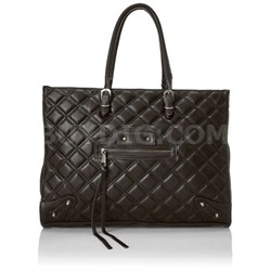 BZINNIA Quilted Large Tote Bag - Black