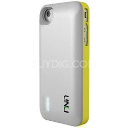 Exera Modular Detachable Battery Case for iPhone 4S 4 - Yellow/White