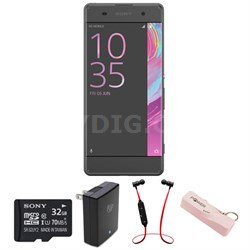 Xperia XA 16GB 5-inch Smartphone, Unlocked - Graphite Black w/ Headphone Bundle