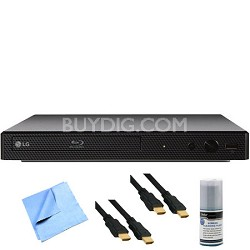 BP550 - Smart 3D Wi-Fi Streaming Blu-ray Player Plus Hook-Up Bundle