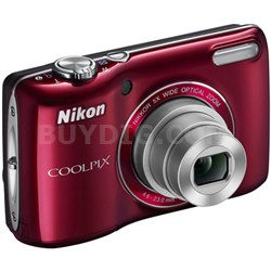 COOLPIX L26 16.1 MP 3.0-inch LCD Digital Camera (Red) Factory Refurbished