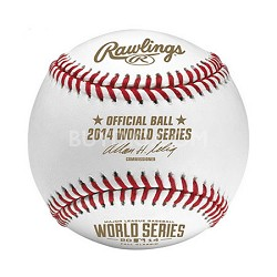 Official 2014 World Series MLB Baseball in Display Cube - WSBB14-R