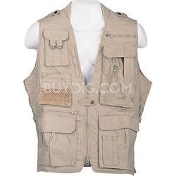 Safari Vest Khaki Size XXL