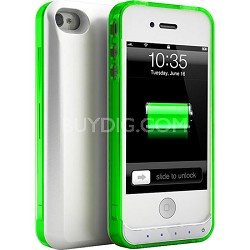 DX-Lite Protective Battery Case for iPhone 4 & iPhone 4S (White Crystal Green)