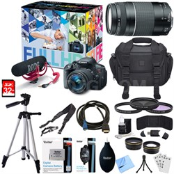 EOS Rebel T5i Video Creator Kit w/ Lens, Rode VideoMic, 32GB Card Deluxe Bundle